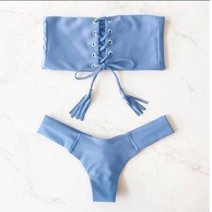 Other - Blue Lace Up Top and Bottom